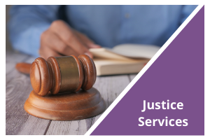 Justice Services button