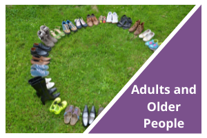 Adults and Older People Button